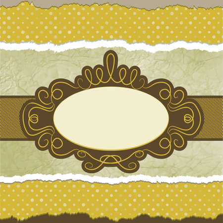Vintage card template with copy space  EPS 8 Stock Vector - 12496630