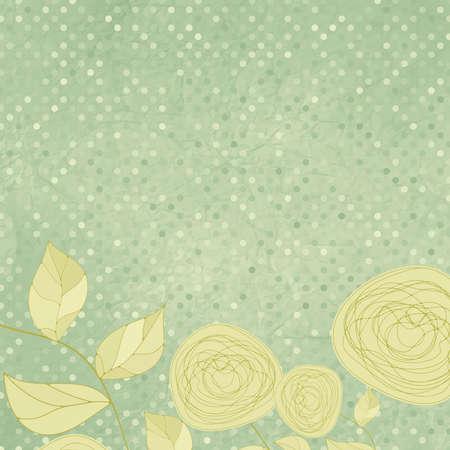Floral Hintergründe mit Vintage Roses Standard-Bild - 12855919