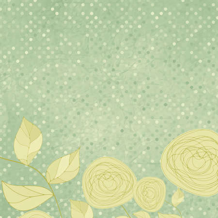 Floral backgrounds with vintage roses