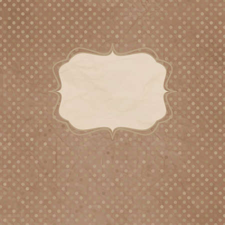 scrap booking: Vintage polka dot card with lace  Illustration