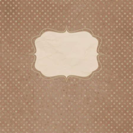Weinlese-Tupfen-Karte mit Spitze Standard-Bild - 12855924