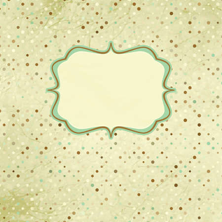 Polka dot Vintage  card Stock Vector - 12856072