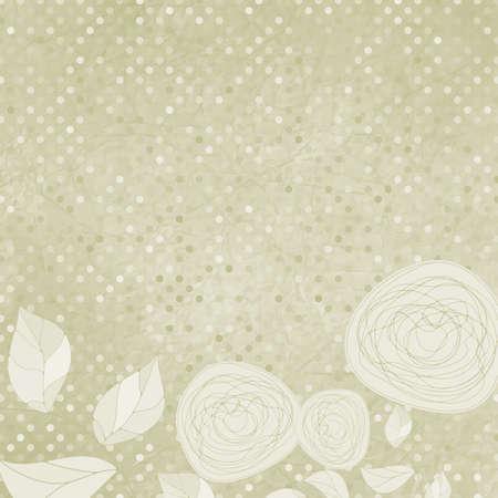 Elegant Floral mit Vintage Rosen Standard-Bild - 12856071