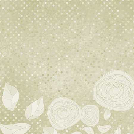 Elegant Floral with vintage roses  Vector