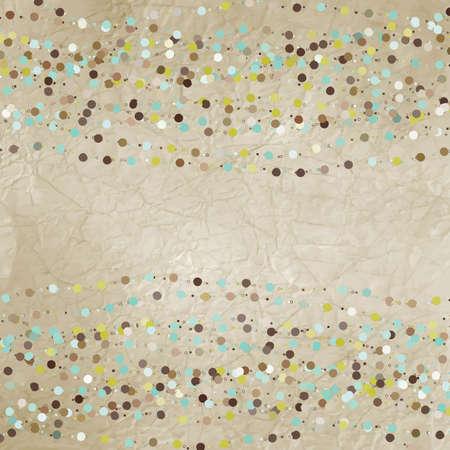 Jahrgang Hintergrund mit Punkten Standard-Bild - 12856178