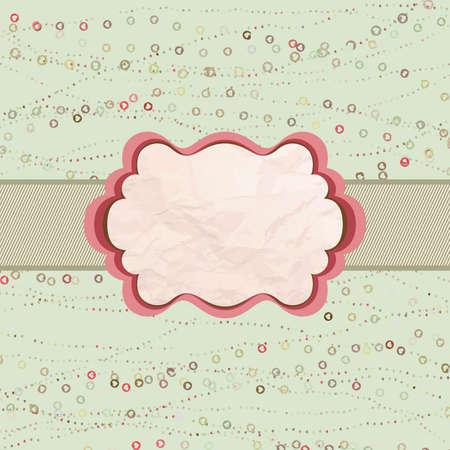 Tarjeta de San Valentín con el corazón Ilustración de vector