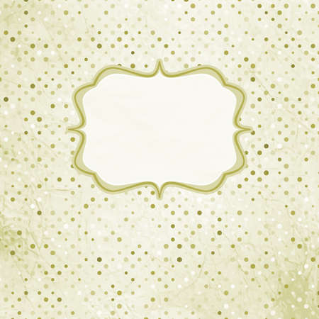Vintage polka dot card illustration Vector