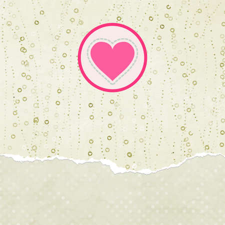 Valentine card with heart illustration Vector
