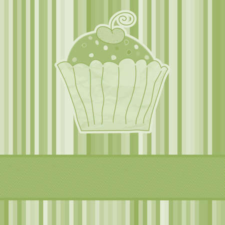 Retro card with cupcake Stock Vector - 13087434