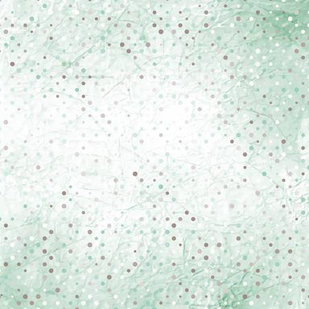 Crumpled old paper with colorful dots  Vector