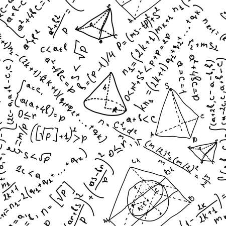 Seamless background with math formulas
