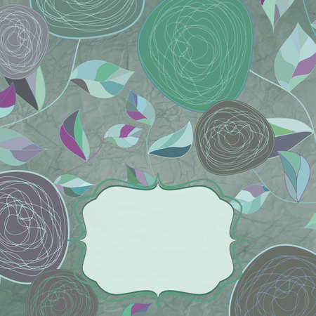 Floral backgrounds with vintage roses Stock Vector - 13321878