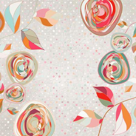 Floral backgrounds with vintage roses   Illustration