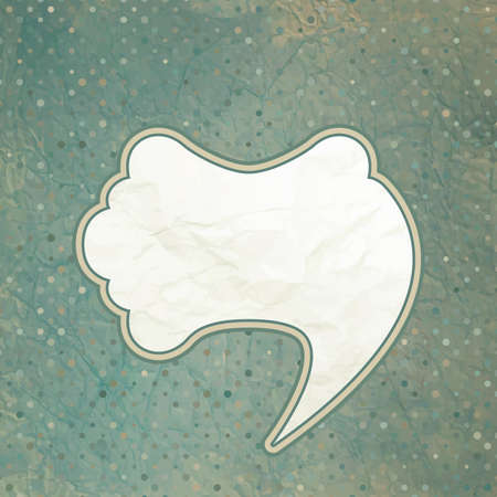Vintage speech bubble design  EPS 8 Vector