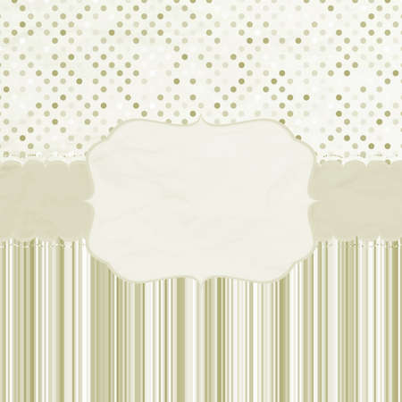 Template frame design for greeting card  EPS 8  Illustration