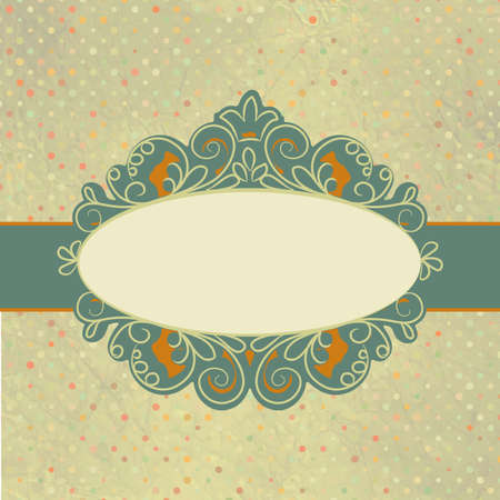 Vintage card template with copy space  Vector