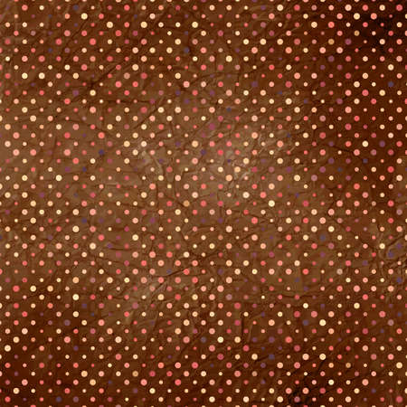 polka: Aged and worn paper with polka dots  EPS 8