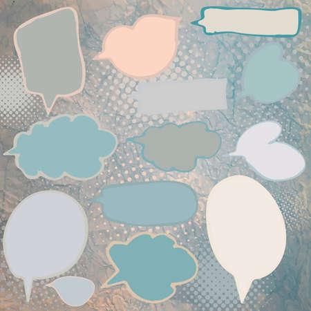 Vintage speech bubbles set  EPS 8 Vector