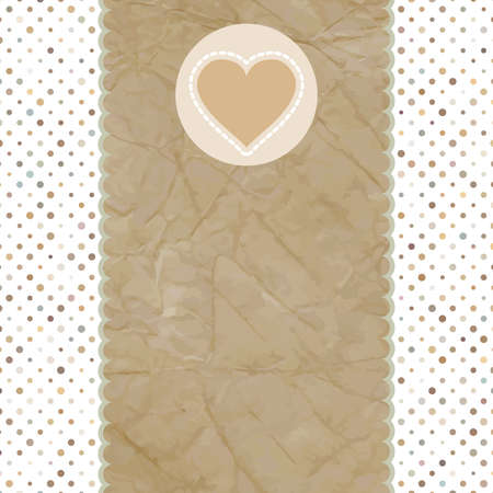 Valentine card with heart  And also includes EPS 8 Vector