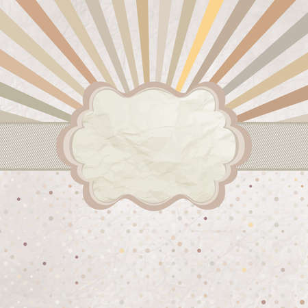 Template with retro sun burst and olka dot  EPS 8 Vector