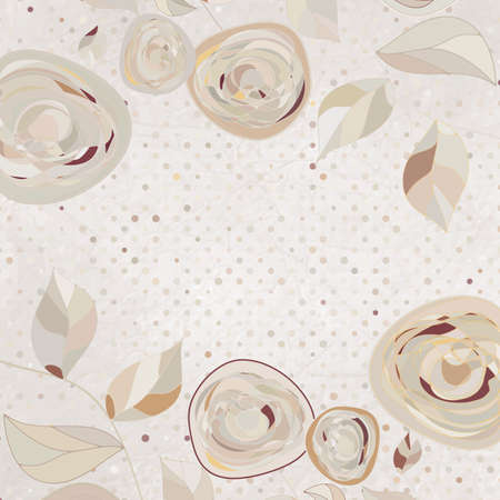 �intage flower template, floral background  EPS 8 Vector