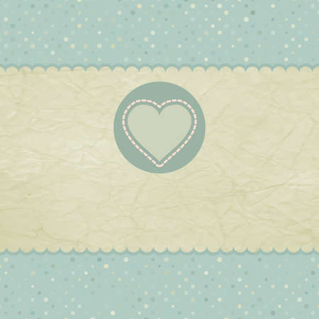 Beautiful greeting vintage Valentine s card Vector