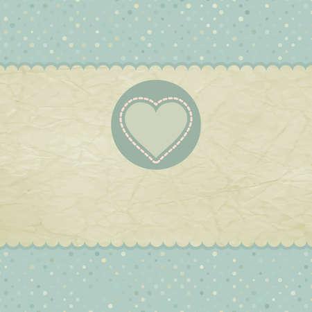 Hermosa tarjeta de saludo de la vendimia de San Valentín s