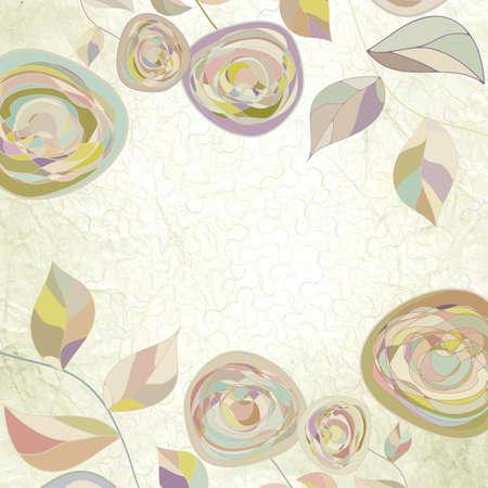 мак: Я, intage цветок шаблон, цветочные фон Иллюстрация