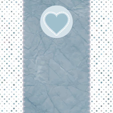Valentine card with heart Stock Vector - 13712424