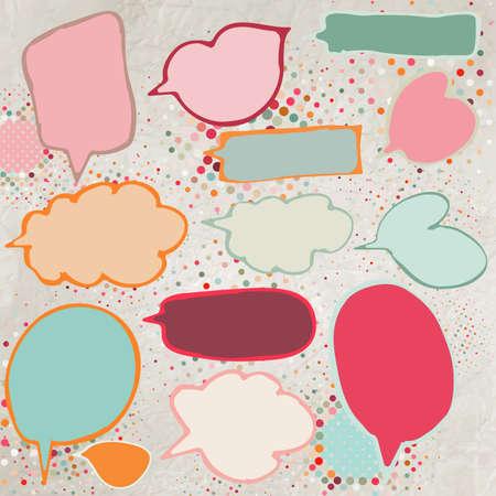 Vintage speech bubbles set   Vector
