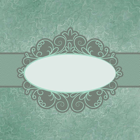 Vintage polka dot card with lace  EPS 8 Vector