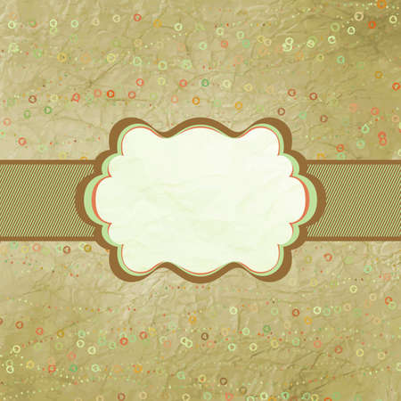 Valentine card with heart  EPS 8 Vector