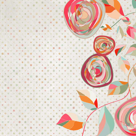 Intage Blume Vorlage, floral background EPS 8 Standard-Bild - 13838699