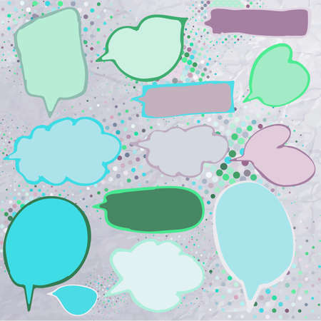 Vintage speech bubbles set   Vector