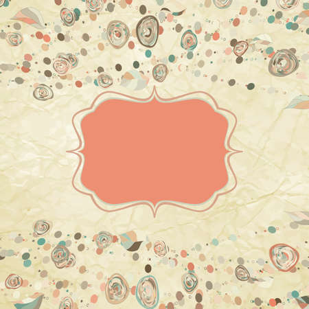 Romantic floral with vintage roses  Ilustracja