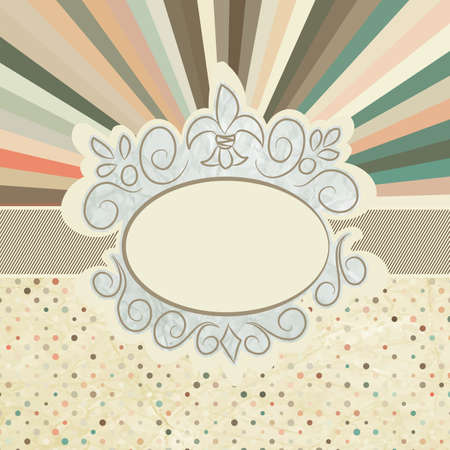 Vintage template with retro sun burst Stock Vector - 14052042