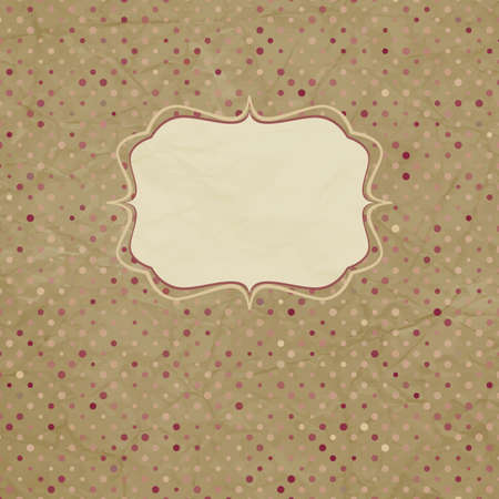 Vintage polka dot card  And also includes Vector