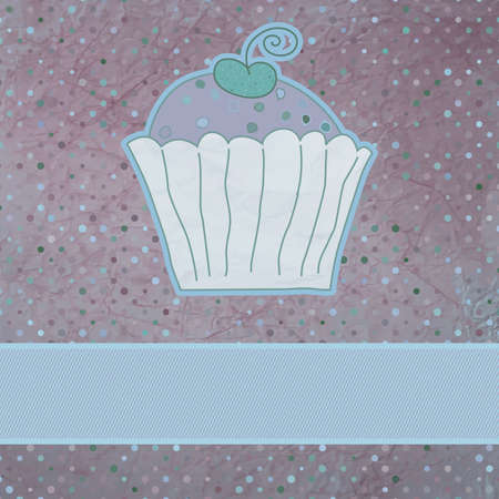Retro card with cupcake Stock Vector - 14066889