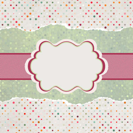 Vintage card with space for text Stock Vector - 14091417