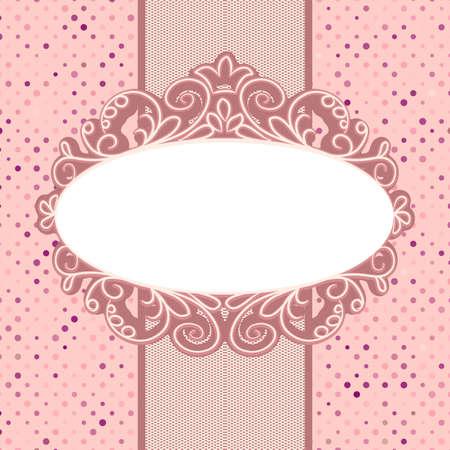 Plantilla de tarjeta de la vendimia con el espacio de la copia