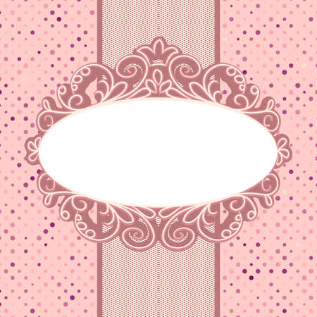 Vintage card template with copy space Stock Vector - 14216413