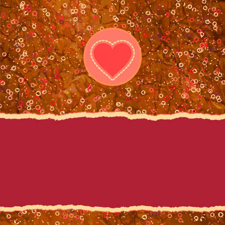 Beautiful greeting vintage Valentine s card Stock Vector - 14512307