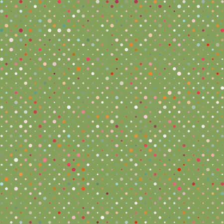 Polka dots colorful abstract pattern  Vector