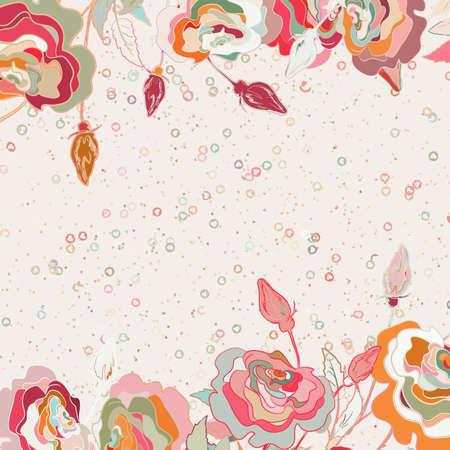 Beautiful floral valentine romantic card  EPS 8  Stock Photo - 14593622