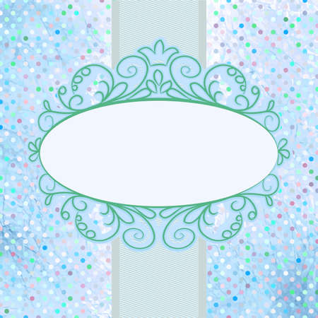 Card for design with frame and polka dot Vector