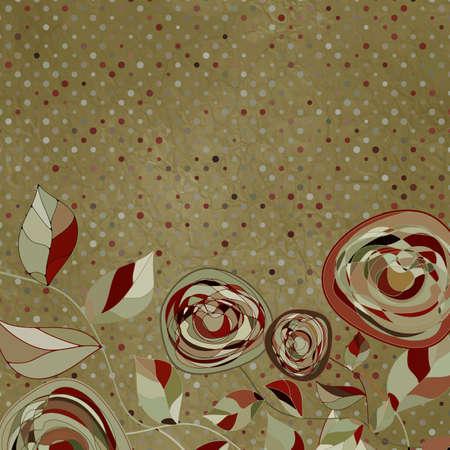 Blooming flowers  EPS 8  Vector