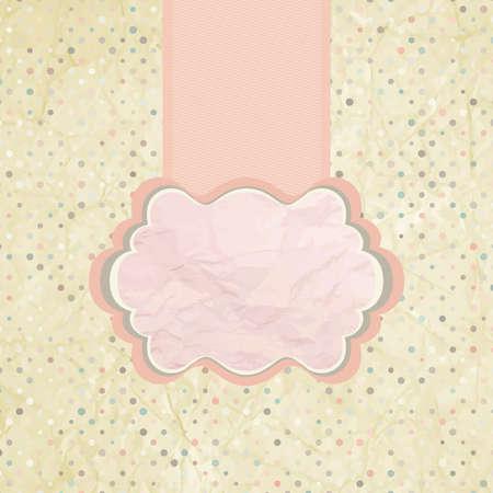 Polka dot design pink  EPS 8 Vector