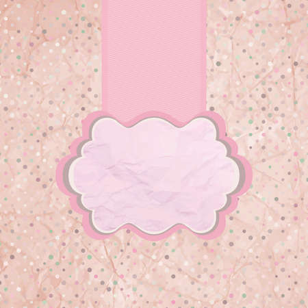 Vintage background with polka-dot  EPS 8 Vector