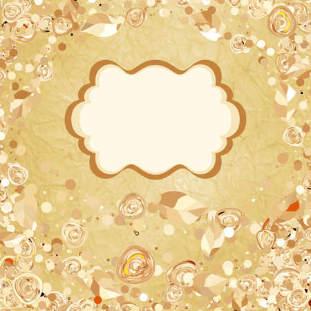 Romantic vintage rose background Vector