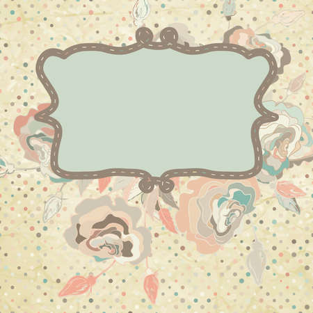 Vintage background with roses  EPS 8